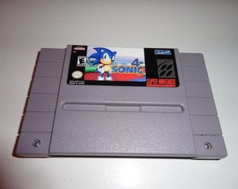 Sonic The Hedgehog 4 SNES Reproductoin Cart Super Nintendo Sonic 4