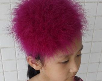 Girls'  marabou headband fascinator # HWG13003