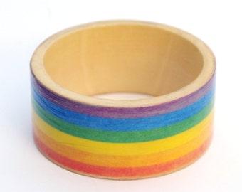 Gay pride bangle - gay pride jewelry - rainbow bangle - rainbow jewelry