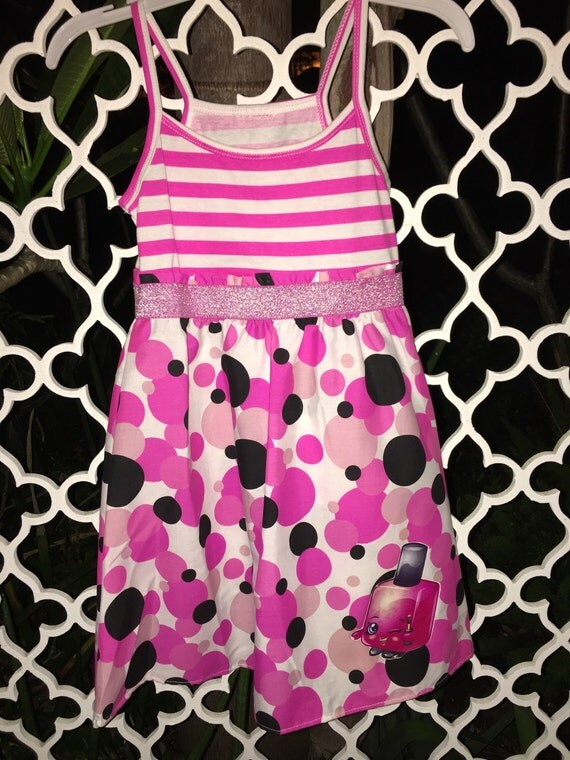 Shopkins Custom Glitter Dress/Party Dress/ Shopkins Custom Dress