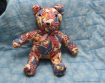 American Flag And Eagle Stuffed Teddy Bear