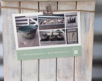 photo board, white-washed, 21cm x 28cm