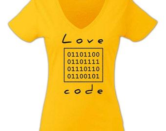 Love Code Sunflower Yellow Women T-shirt with Black Glitter