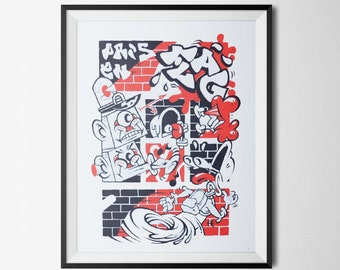 PRIS EN FLAG' x Nefrit - Screenprinted poster