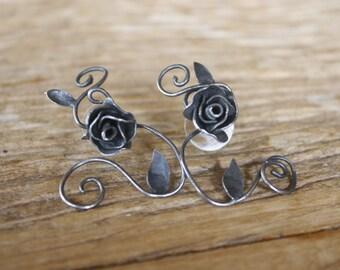 Tattoo silver earing