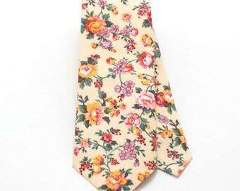 Vintage Butter Rose Classic Necktie