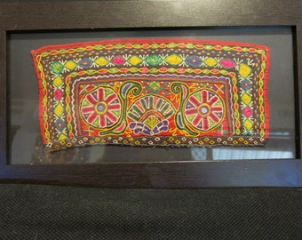 Vintage Ahir Tribal Textile  Panel. Toran piece.