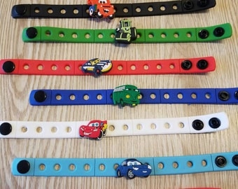 10 Cars Silicone Bracelets  Party Favors