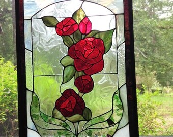 """Red Roses - 15.25"""" width x 23"""" height"""