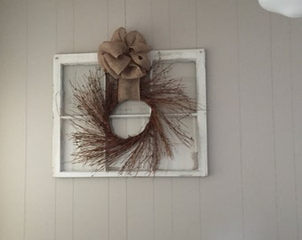 Rustic and vintage wall decor, home decor, window panes