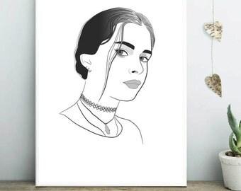 Custom portrait, fashion portrait, Digital Illustration, personalized gift, digital portrait, picture drawn, Drawing from photo