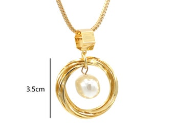 Pearl in a Nest Necklace