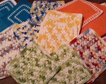 Crochet Cotton Dish Cloths