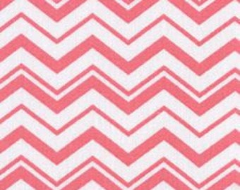 """BTHY - Different sized Chevron White and Pink by Quilter's Showcase, Zig Zags, Pinked edges or crooked lines are either 1/16"""" and 3/8"""""""