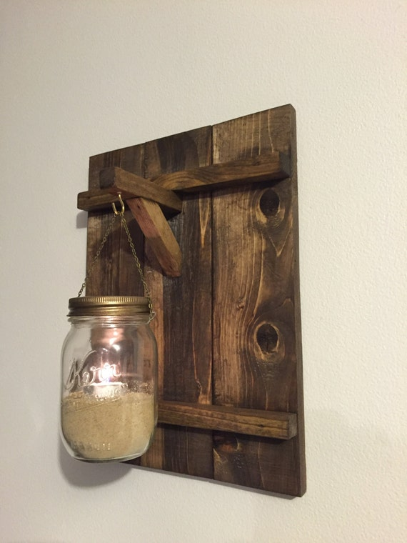 Rustic wooden candle holder distressed wood candle holder for Rustic wood candle holders
