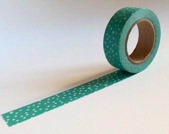 Teal snow dots washi tape