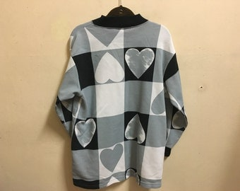 Vintage 90's Love Super Edition Sport Classic Design Skate Sweat Shirt Sweater Varsity Jacket Size L #A480
