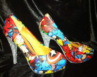 MARVEL Avengers heels * * * sizes 3-8
