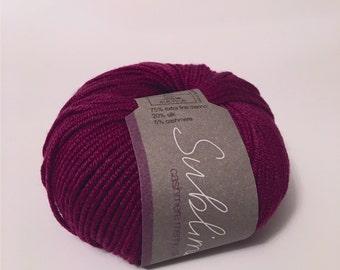 Yarn Destash - Cashmere Merino Silk DK by Sublime Yarns, 059 Beetroot