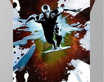 Silver Surfer, Norrin Radd Poster  Marvel Comics, Galactus, Fantastic Four