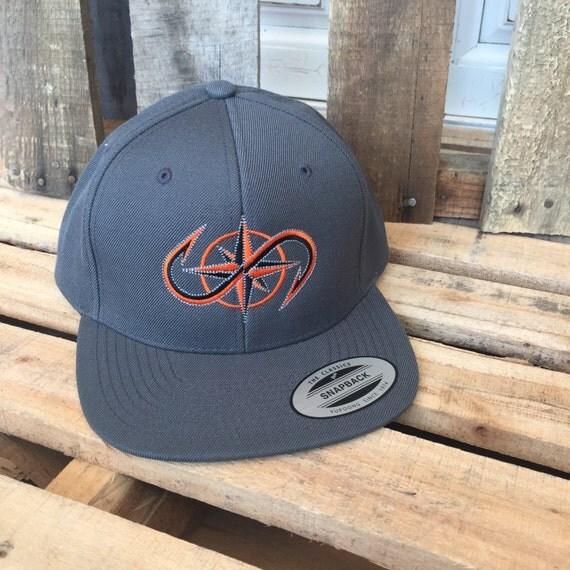 Salty Obsession Orange Logo Flat Rim Trucker Hat Fishing