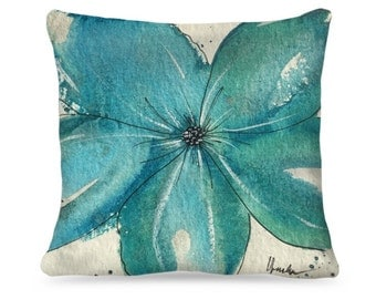 "Designer Watercolor Pillow ""Martha"" Home Decor"