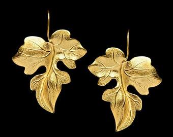 Gold Plated Earring Zizania