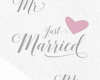 Just Married SVG SVG file SVG designs svg files saying bundle silhouette cricut wedding sayings svg vinyl designs bride groom mrs mr svg