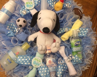 Baby Boy Shower Wreath