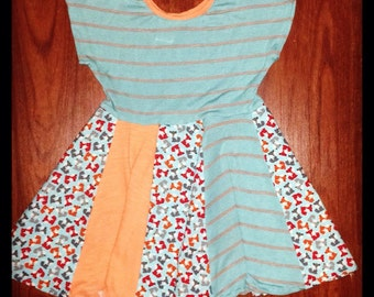 2T fox twirl dress