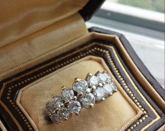 14k Gold 1.5ct Diamond Wedding Band
