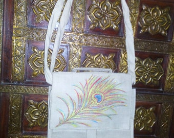 2 Pocket Jute Bag 11.5H x 10W
