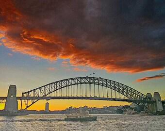Sydney Harbour Bridge Australia sunset Photograph