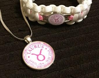 Taurus necklace and bracelet