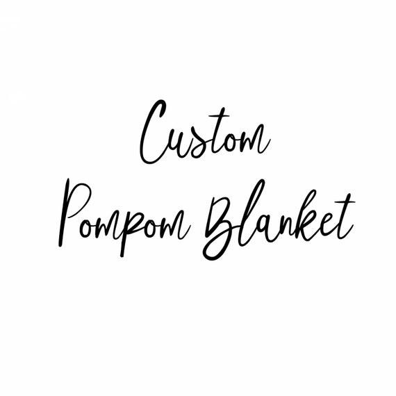 Pom Pom Blanket, Baby Pom Blanket, Baby Blanket, Crib Blanket, Blankie, Gender Neutral Blanket, Custom Pom Pom Blanket