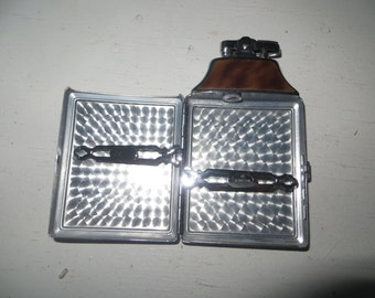 Vintage RONSON 2in1 Lighter Cigarette Case/Like New Condition