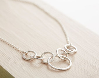 Sterling Silver Circle Chain Necklace - Silver Chain Necklace - Chunky Chain Necklace