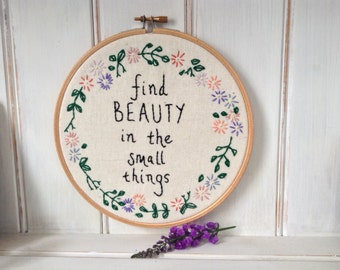 Embroidery hoop-the small things