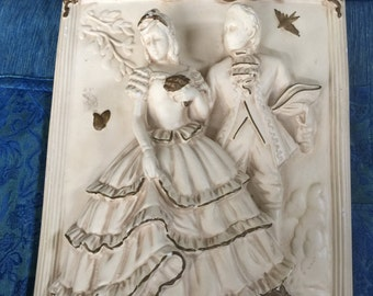 Victorian plaster sculpted wall decor