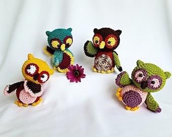 "ebook: Amigurumi ""Funny Owls"" Crochet Pattern"