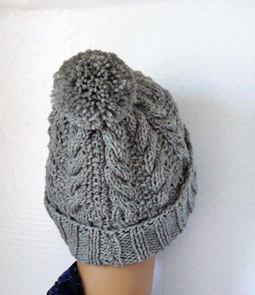 Knitting pattern knitted cable beanie womens chunky knit hats this is a digital file bankloansurffo Choice Image