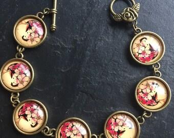 Beautiful Bronze Tone Oriental Style Bracelet