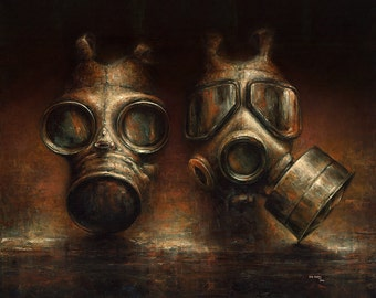 Parallel   -   Gask Mask Fine Art Print