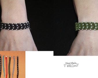Make a Wish!! Amazing Ethnic Hippy Boho Ethnic Handmade Silver Bracelet Bracelet Multi Colour Yarn Chalisa Silver Craft 20 cm