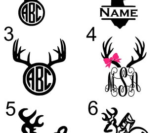 Hunting/Deer Antler Monogram