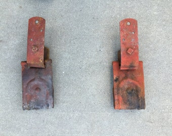 Original Antique Barn Door Hardware - Rollers & Track / Rail