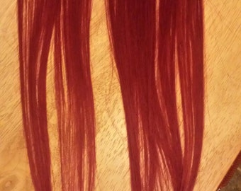 Red Indian Remy clip-in hair extension streak (2cm wide) customised made to order