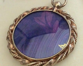 Antique Victorian Lovely Ladies Antique Rolled Gold/Pinchbeck Large Photo Locket Pendant