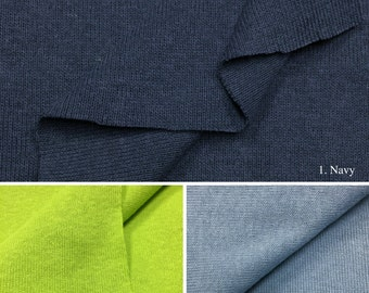 1x1 Rib Knit Fabric (Wholesale Price Available By the Bolt) USA Made Premium Quality - 4000 - 1 Yard