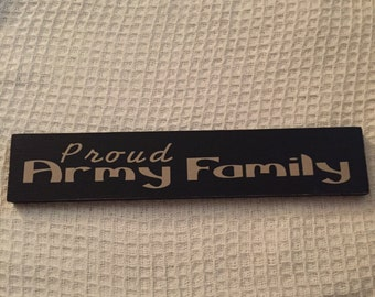 Proud Army Family wooden sign